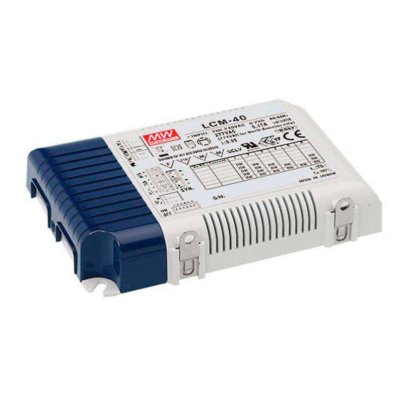 LED Driver MEAN WELL Ajustable LCM-40, 0-10V, PWM, Regulable